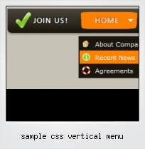 Sample Css Vertical Menu