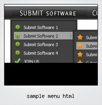 Sample Menu Html