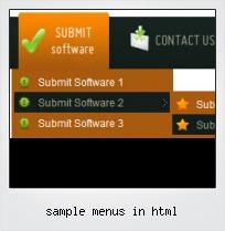 Sample Menus In Html