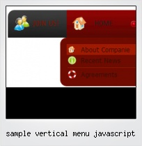 Sample Vertical Menu Javascript