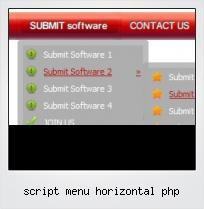 Script Menu Horizontal Php