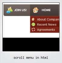 Scroll Menu In Html