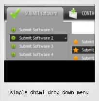 Simple Dhtml Drop Down Menu