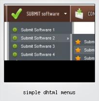 Simple Dhtml Menus
