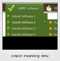 Simple Expanding Menu