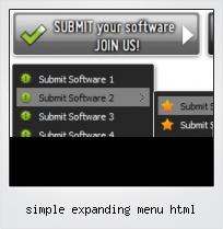 Simple Expanding Menu Html