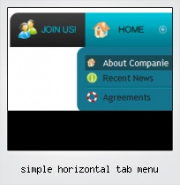 Simple Horizontal Tab Menu