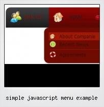 Simple Javascript Menu Example
