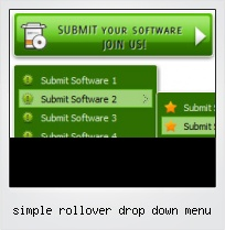 Simple Rollover Drop Down Menu