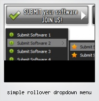 Simple Rollover Dropdown Menu