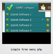 Simple Tree Menu Php