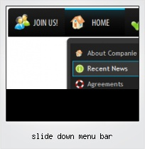 Slide Down Menu Bar