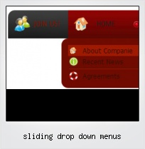 Sliding Drop Down Menus