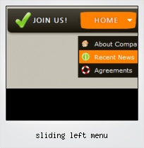 Sliding Left Menu
