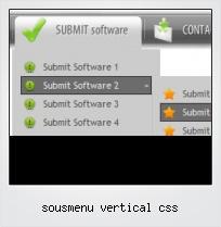 Sousmenu Vertical Css