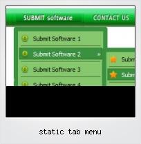 Static Tab Menu