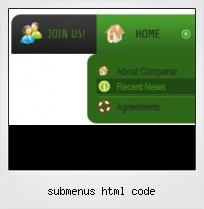 Submenus Html Code