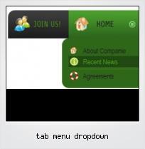 Tab Menu Dropdown