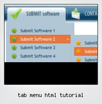 Tab Menu Html Tutorial