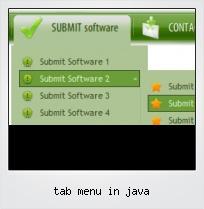 Tab Menu In Java