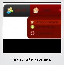 Tabbed Interface Menu