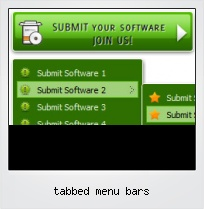 Tabbed Menu Bars