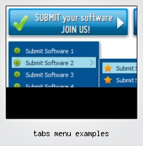 Tabs Menu Examples