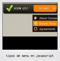 Tipos De Menu En Javascript