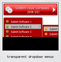 Transparent Dropdown Menus