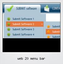 Web 20 Menu Bar