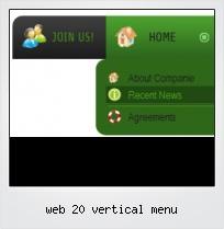 Web 20 Vertical Menu