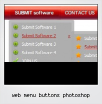 Web Menu Buttons Photoshop