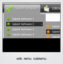 Web Menu Submenu