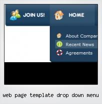 Web Page Template Drop Down Menu