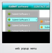 Web Popup Menu