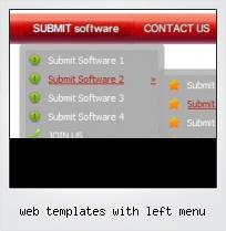 Web Templates With Left Menu