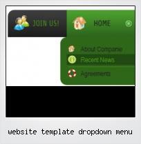 Website Template Dropdown Menu