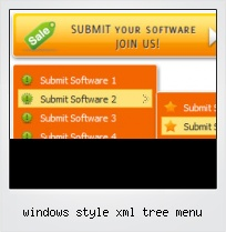 Windows Style Xml Tree Menu