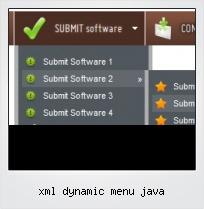 Xml Dynamic Menu Java