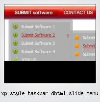 Xp Style Taskbar Dhtml Slide Menu