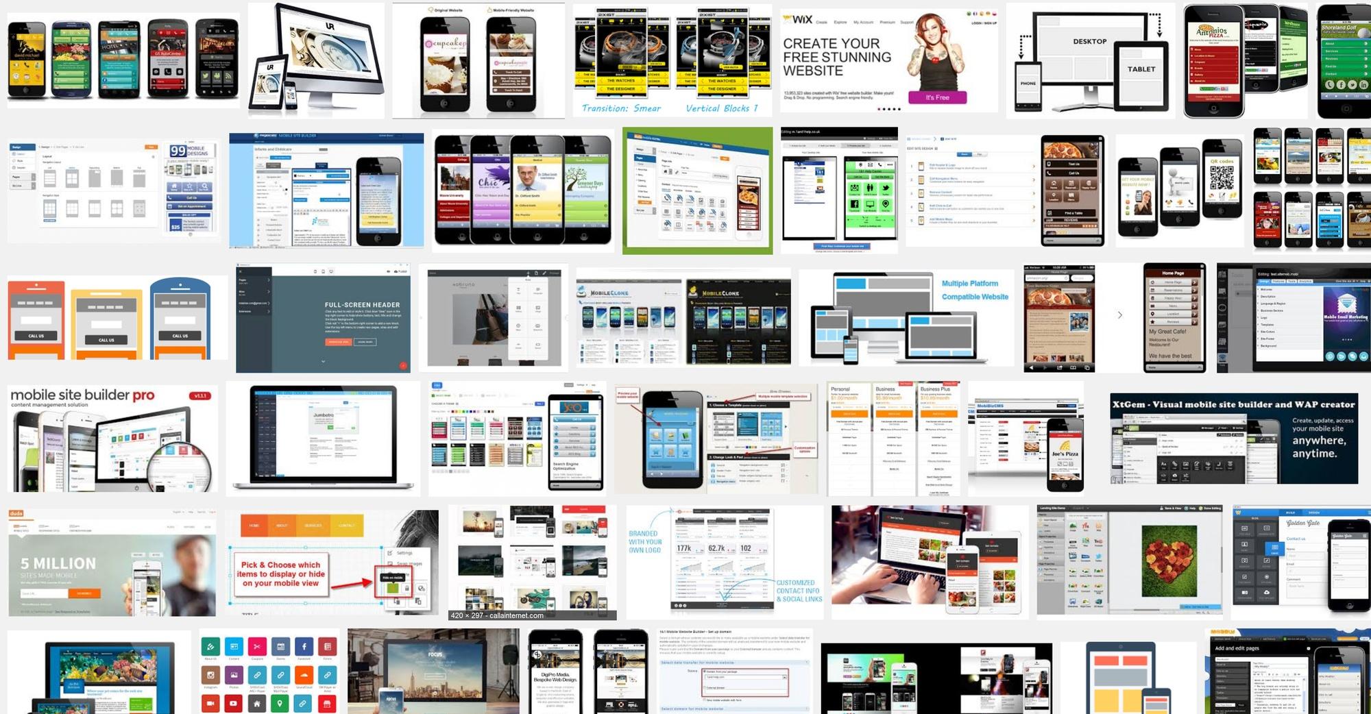 Drag and Drop Mobile Website Creator