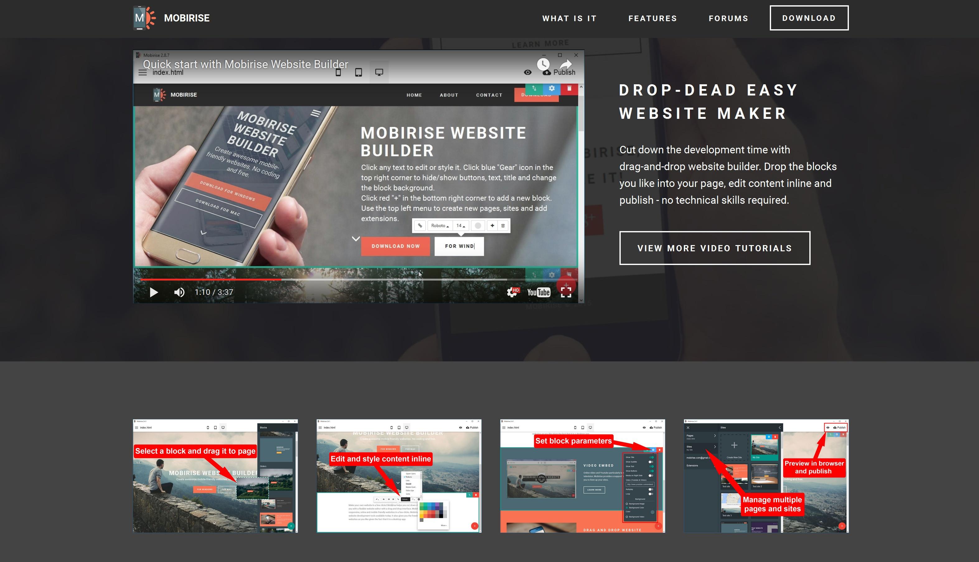 Free Mobile Website Generator