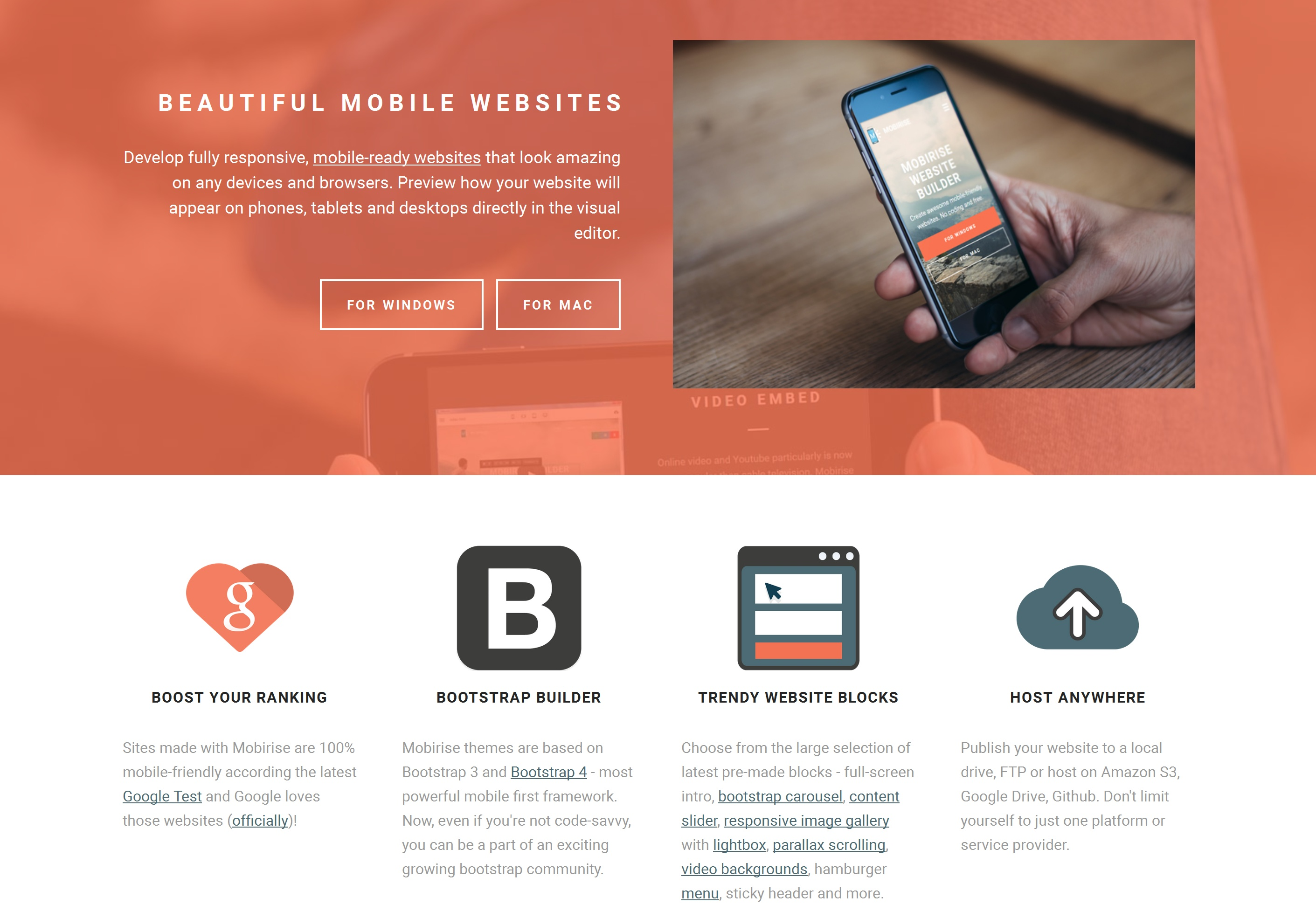 Drag and Drop Mobile Website Generator