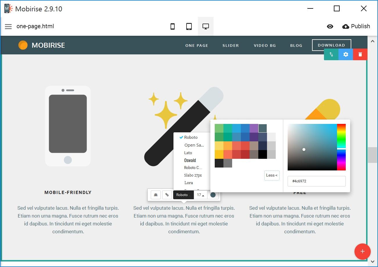 Bootstrap Mobile Website Maker