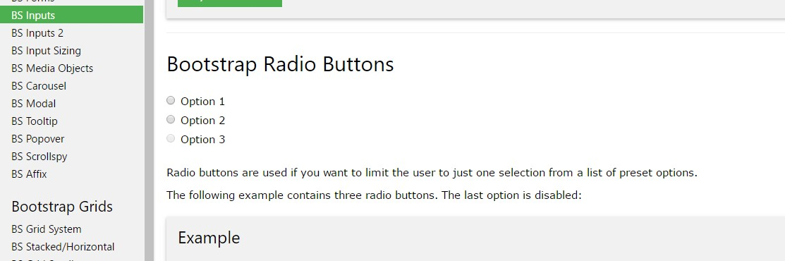 Bootstrap Radio button -  article