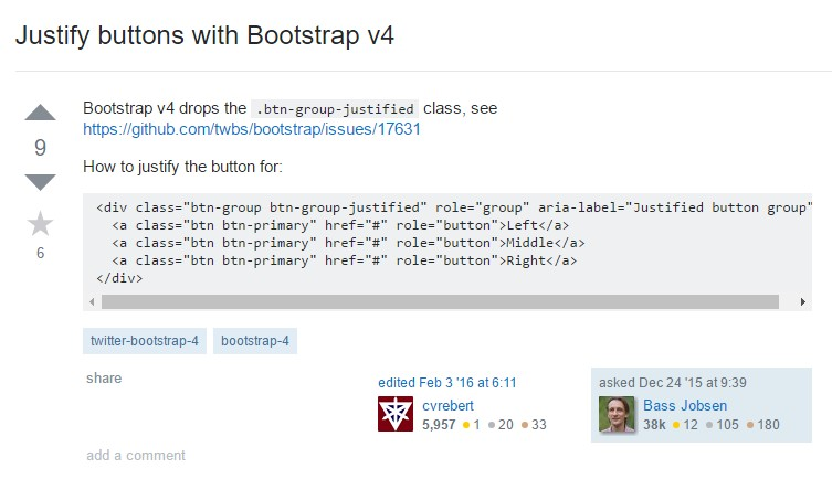 Establish buttons  by using Bootstrap v4