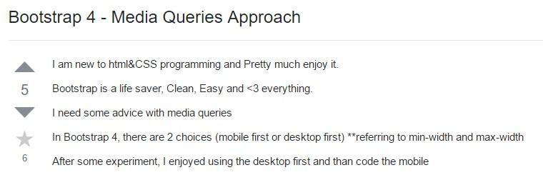 Bootstrap 4 - Media Queries Method