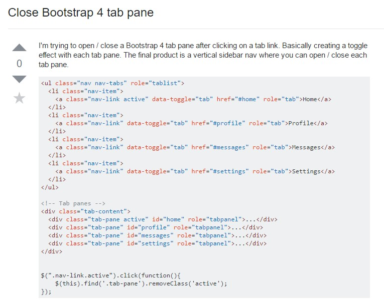 The ways to close Bootstrap 4 tab pane