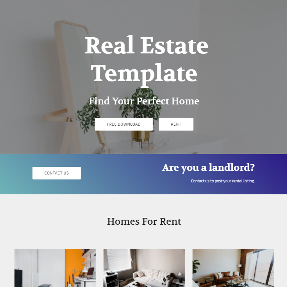 Free Bootstrap Real Estate Templates