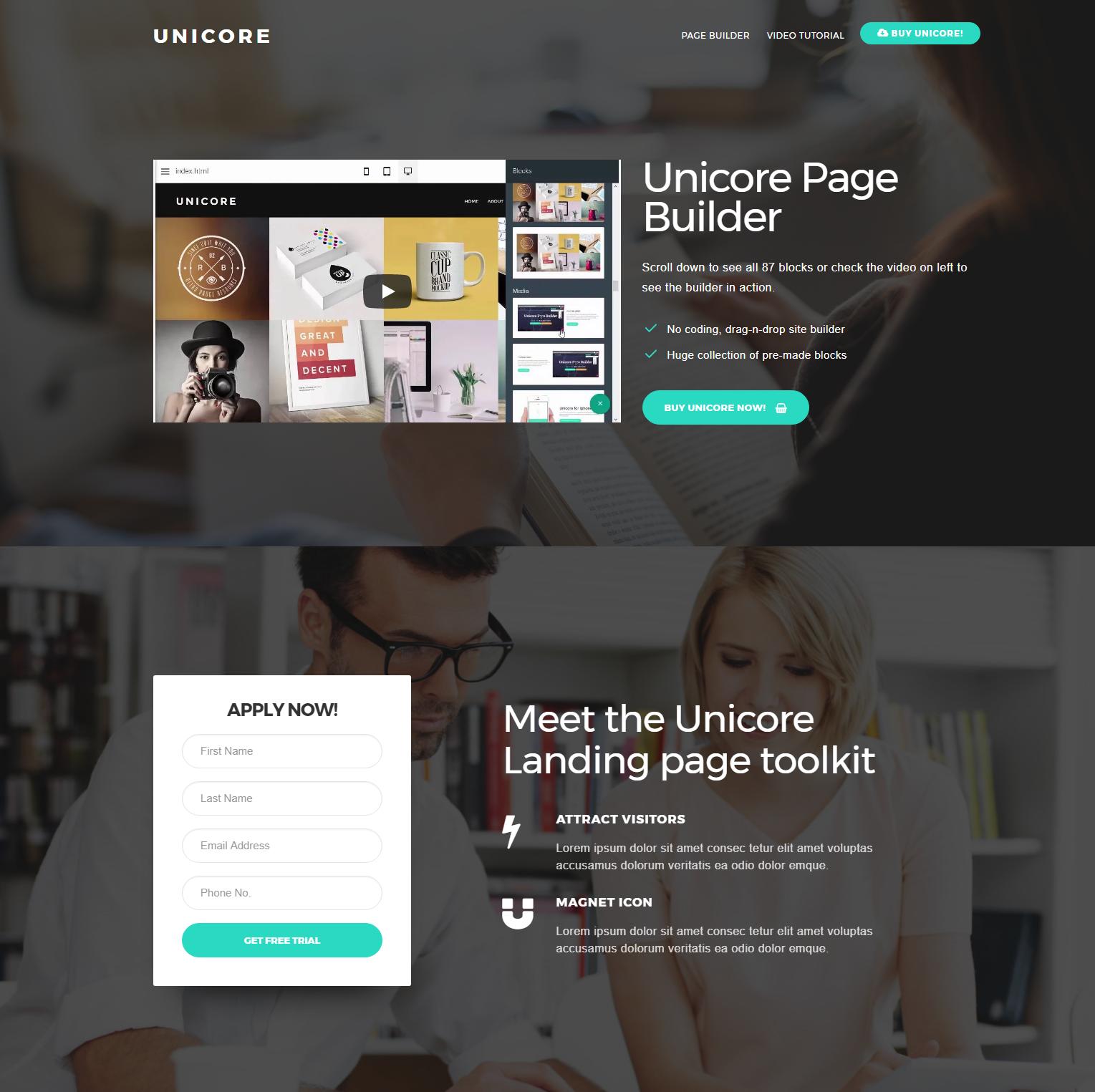 CSS3 Bootstrap Unicore Templates